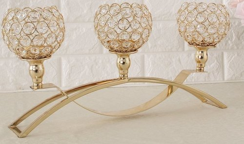Gold Crystal Candle Stands Crystal Hd Wallpaper Imagestrorg