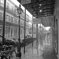 Downpour on Lower Decatur Street, French Quarter, New Orleans, June 26, 2011