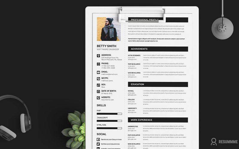 50 Free Creative CV Resume Design Templates For All Professionals - Simple Resume Design