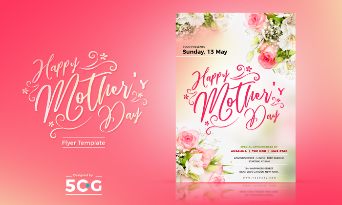 Free Mothers Day Flyer Template 2018 - mothers day flyer