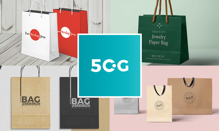 50 Free Best Shopping Paper Bag Mockups For All Professional