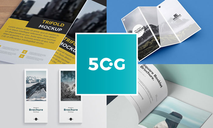 50 High Quality Free Brochures PSD Mockups For Designers - 50 Graphics