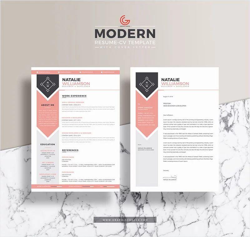 modern resume template free 2019