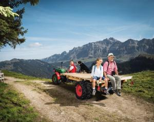 Urnaesch, Appenzell Ausserrhoden, Schweiz, 28. September 2014 - Appenzeller Land Tourismus, Hochalp, Saentis, Alpstein.