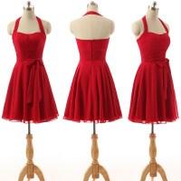 Red Bridesmaid Dress, Short Bridesmaid Dress, Cheap ...