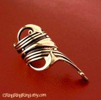 Roman ear cuff gold brass earring jewelry - Left or Right ...
