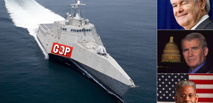 GOP Ship's Heading:  Newt-by-North-West