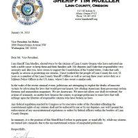 Oregon Sheriff: I Will Not Enforce New Federal Gun Laws