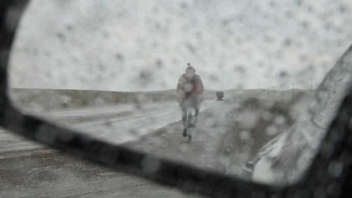 RIDING IN THE RAIN 2 IN MIRROR