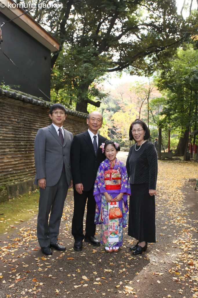 赤坂神社七五三家族写真