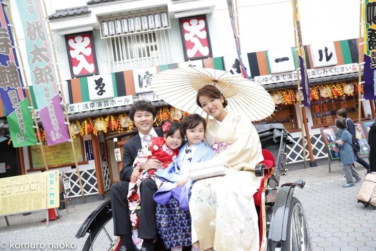 浅草寺七五三家族写真
