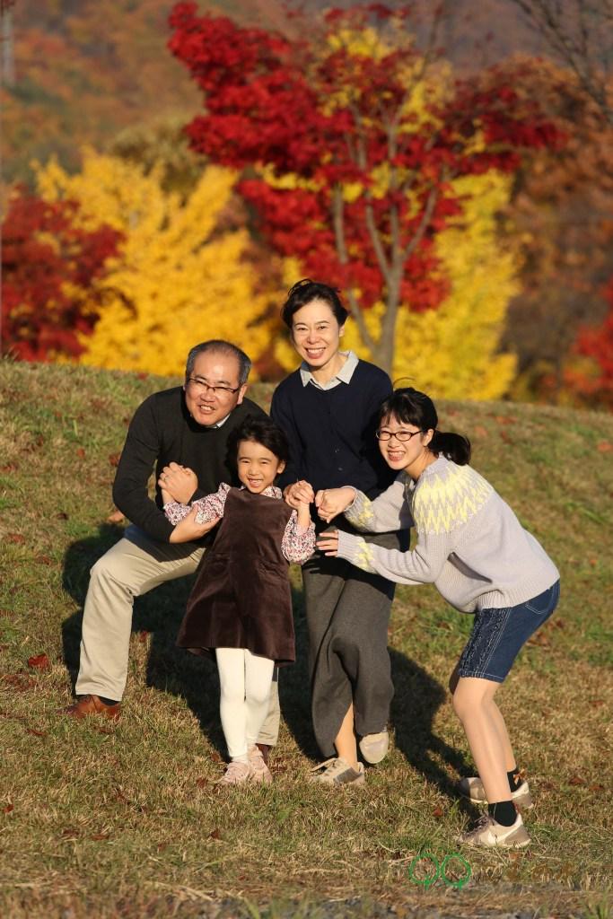 こむの木家族写真諏訪湖