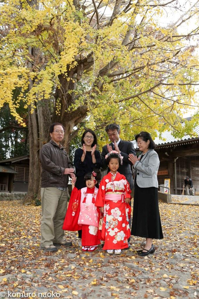 日吉神社七五三出張撮影親族写真