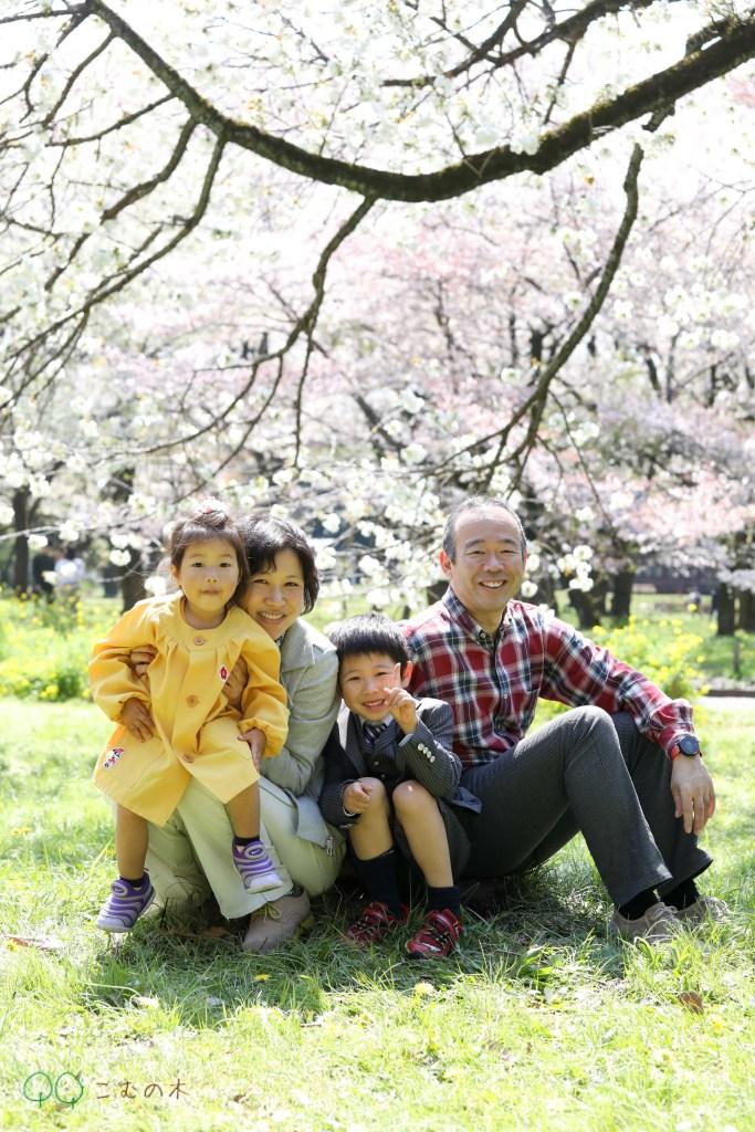 こむの木家族写真撮影会小金井公園入園記念