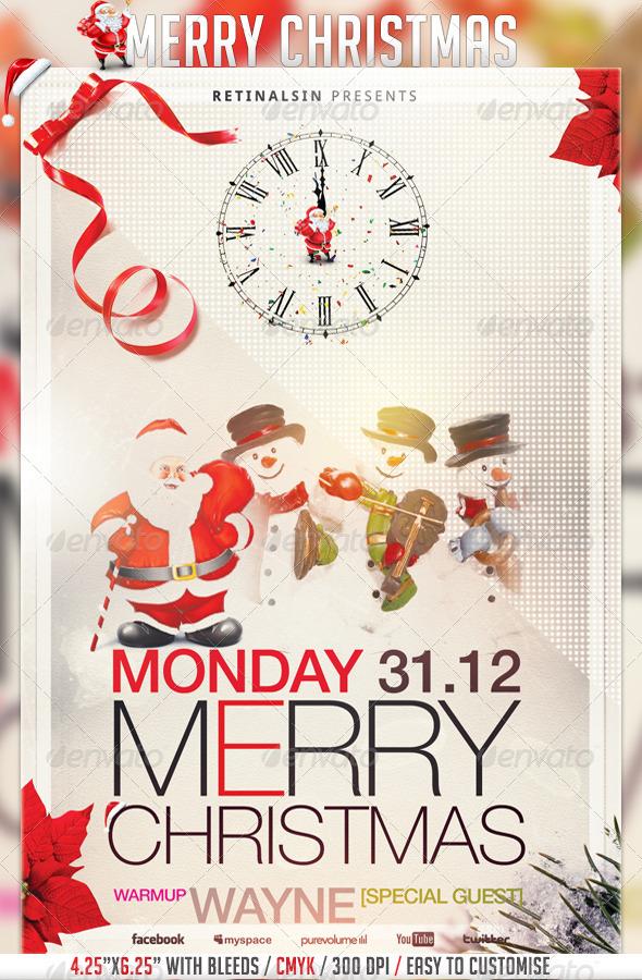 Best Christmas Flyer Templates for 2012 - 56pixels