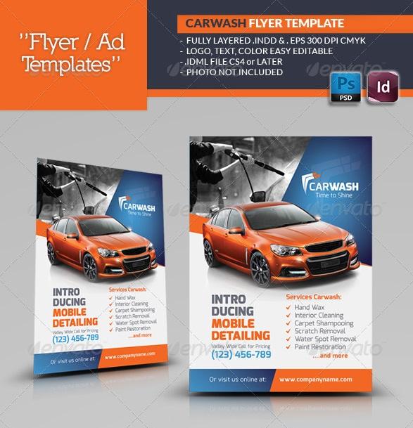 Fantastic InDesign Flyer Templates 56pixels - car wash flyer template