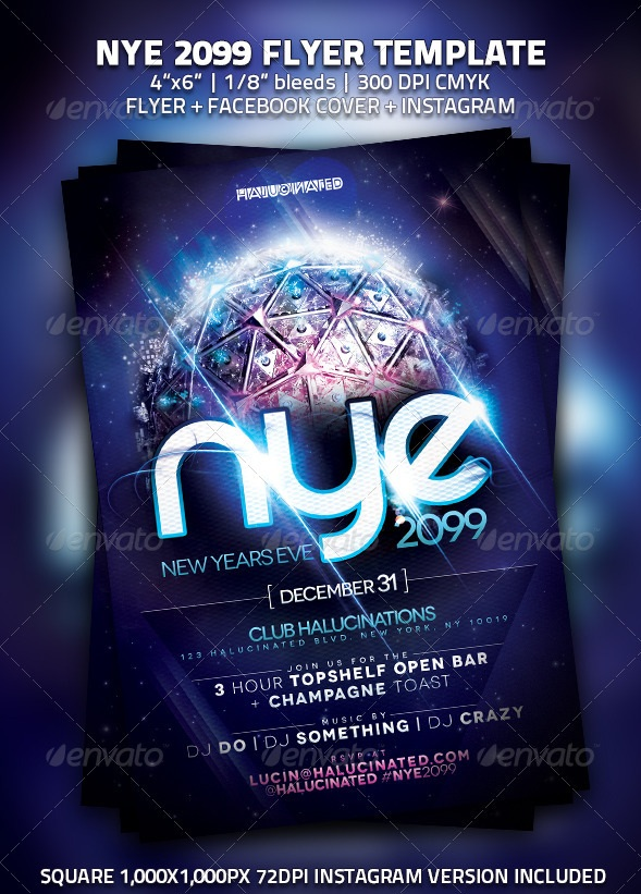 30 Best New Year Flyers of 2013 - 56pixels
