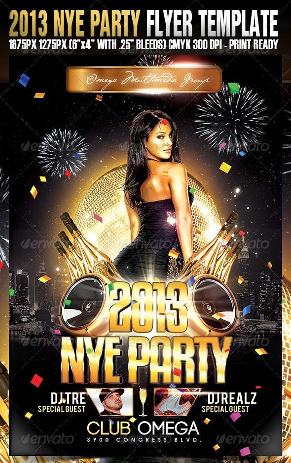 30 flyers - Helpemberalert - free new years eve flyer template