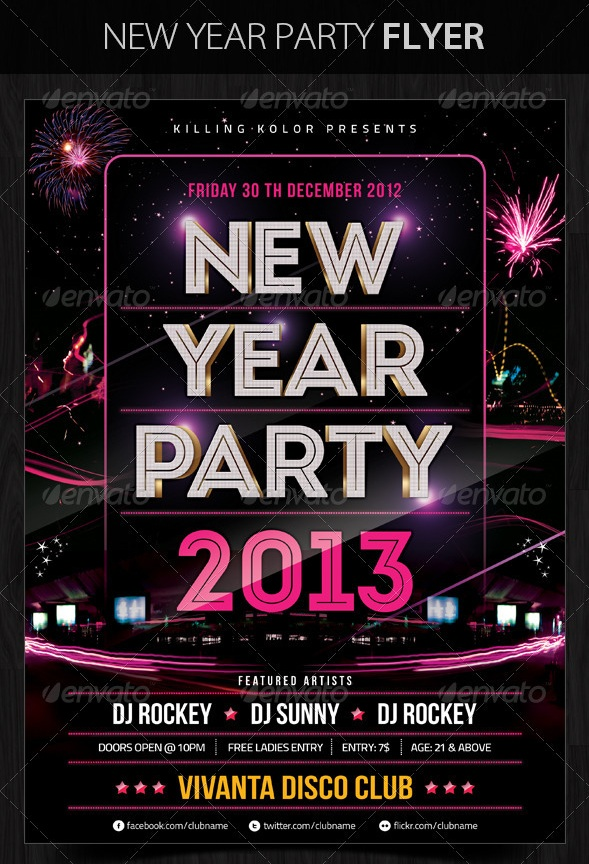 30 Best New Year Flyers of 2013 - 56pixels - new years party flyer