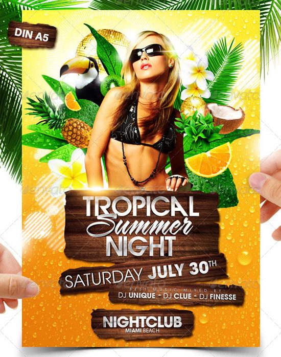 Top 50 Summer Beach Party Flyer Templates - 56pixels - summer flyer template