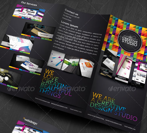 45 Creative Premium Brochure Template Designs - 56pixels - studio brochure