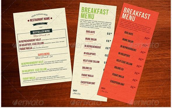 Free and Premium Food and Restaurant Menu Brochure - 56pixels - food menu templates free