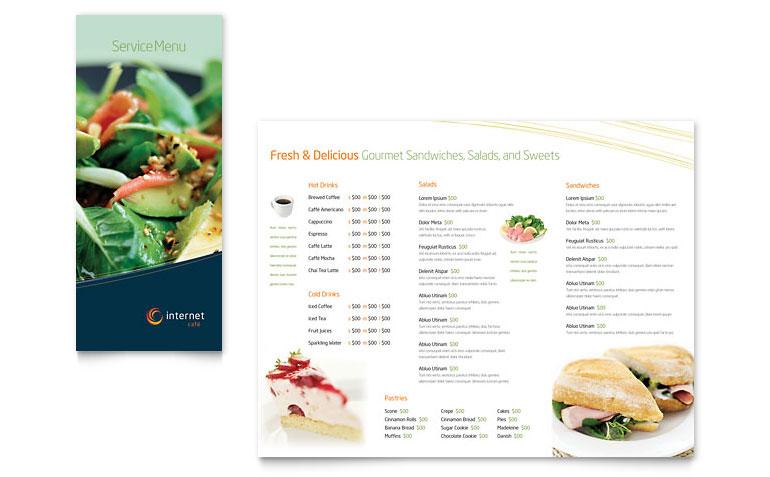 Free and Premium Food and Restaurant Menu Brochure 56pixels