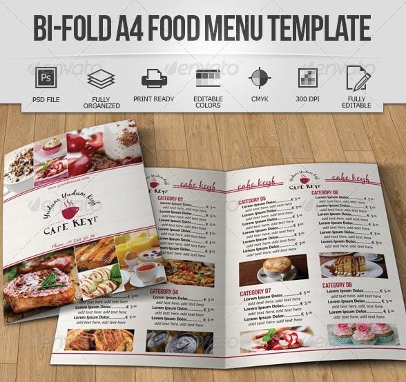 Free and Premium Food and Restaurant Menu Brochure - 56pixels - Sample Pizza Menu Template