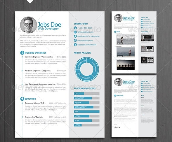 Awesome Resume\/CV Templates 56pixels - stand out resume templates
