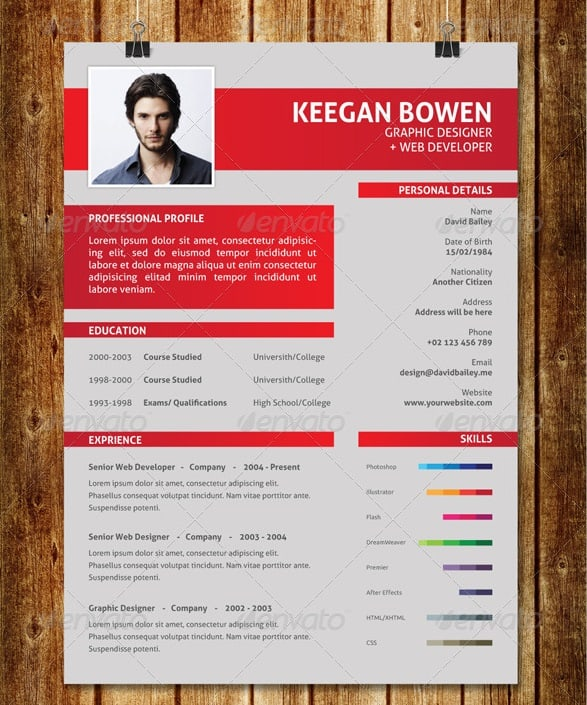Example of modern resume