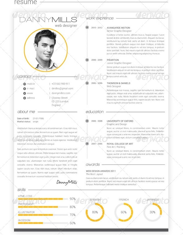 clean resume designs 03052017