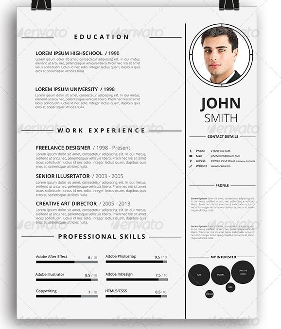 Awesome Resume/CV Templates 56pixels