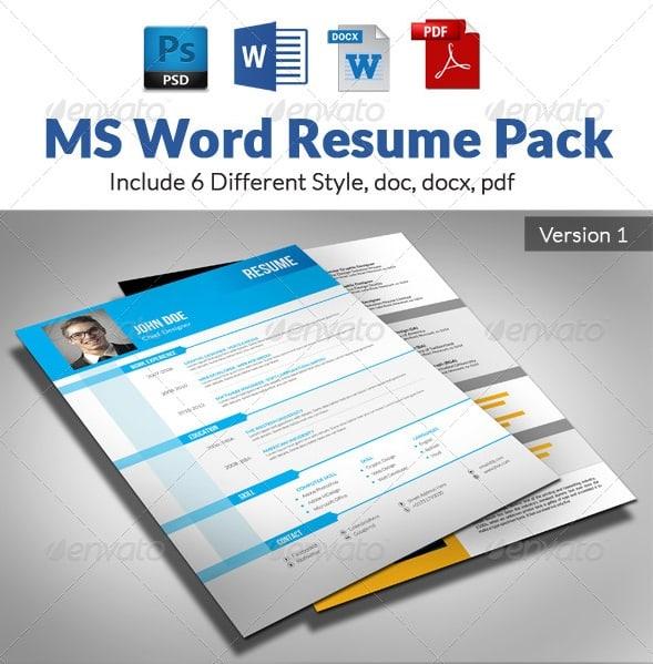 pack word cv