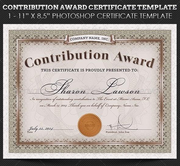 Free and Premium Certificate Template 56pixels - award certificate template