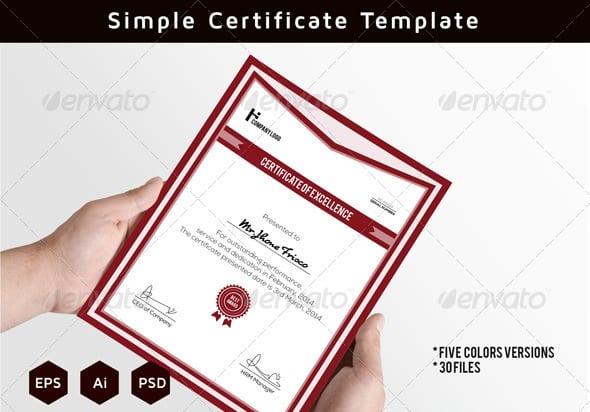 Free and Premium Certificate Template 56pixels