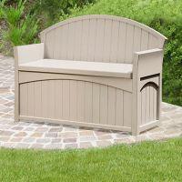 Suncast Resin Patio Storage Bench - 189L