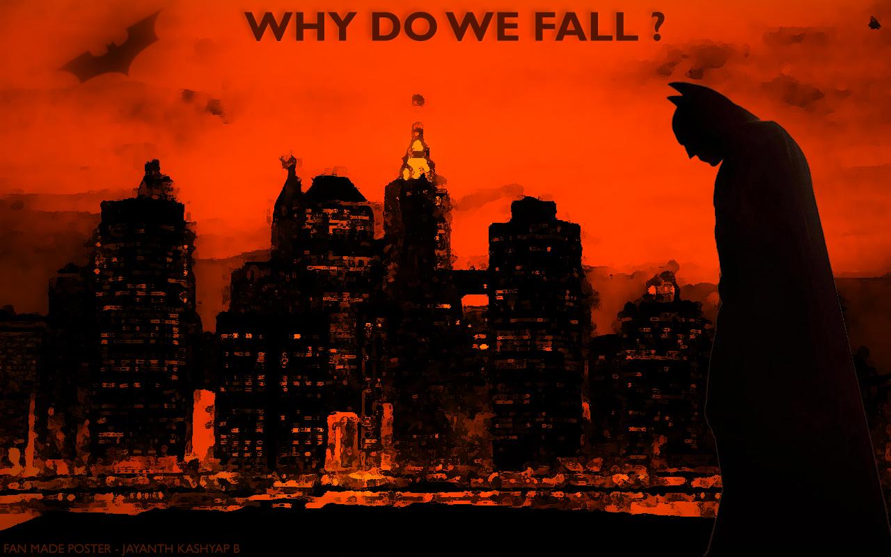 Batman Wallpaper Why Do We Fall Inspiring Quote 576 Megapixels
