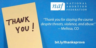 Thank You to Abortion Providers - National Abortion Federation