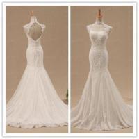 High Collar Prom Dress,Mermaid Prom Dress,Lace Prom Dress ...