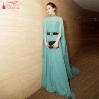 Turquoise A Line Chiffon Prom Dresses Indian Event Gowns ...