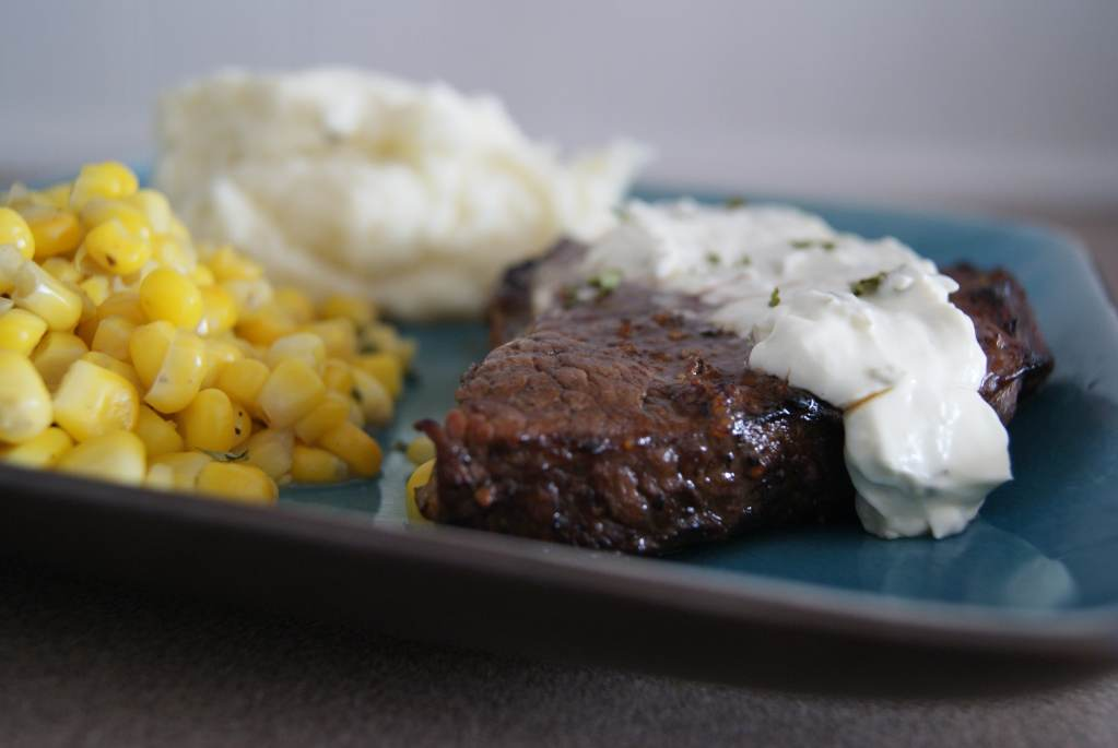 Balsamic Steak with Cream Sauce