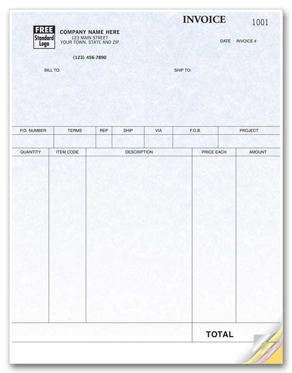 13055G Product Invoices Laser Parchment 8 1/2 x 11\