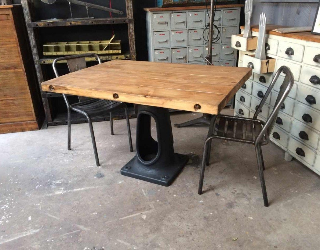 Pied De Table Fonte Ancien Table Industrielle Pied Fonte