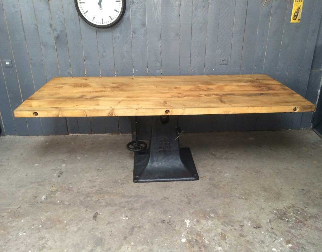 Pied De Table Fonte Ancien Table Industrielle Pied Central En Fonte