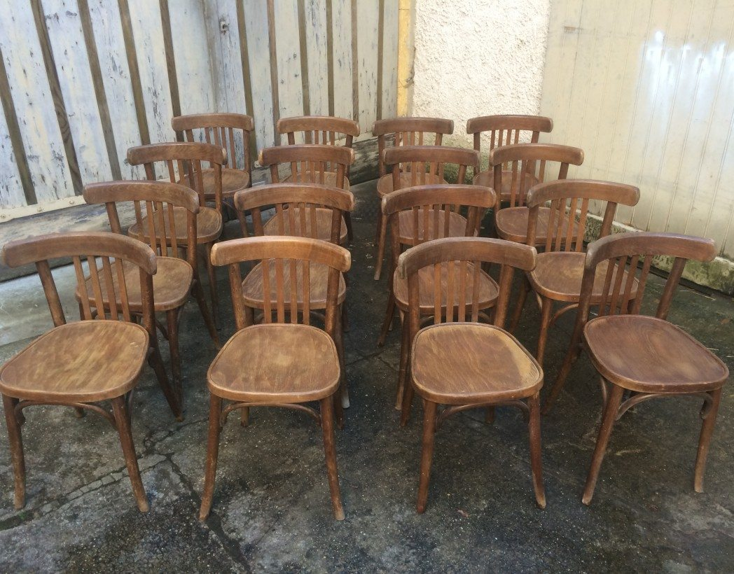 Assise Bois Pour Chaise Bistrot Lot 60 Chaises Bistrot Type Baumann , Thonet