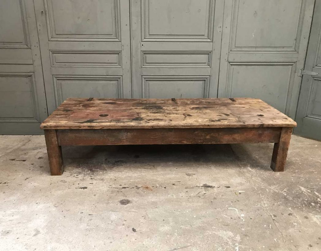 Table Basse Bois Industrielle Ancienne Table Basse