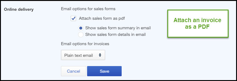 How to Customize Sales Settings in QuickBooks Online - email invoices