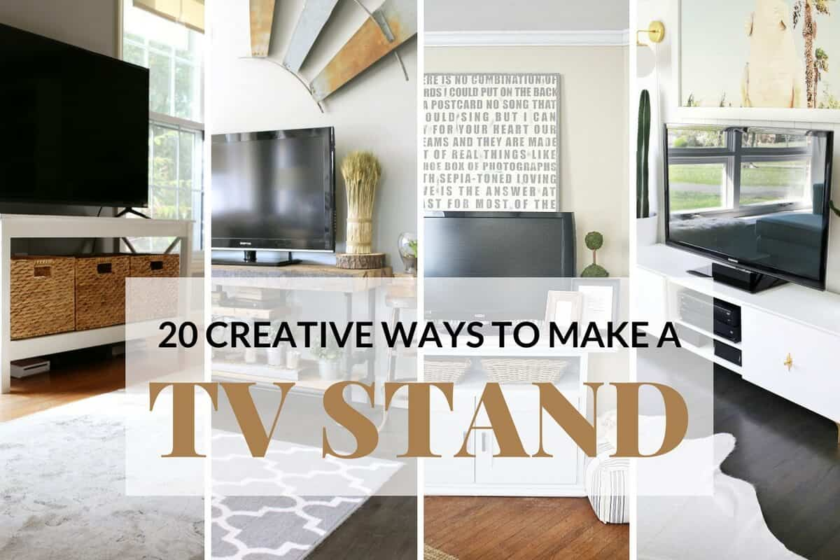 20 Creative Ways To Make A Tv Stand Diy Tv Stands