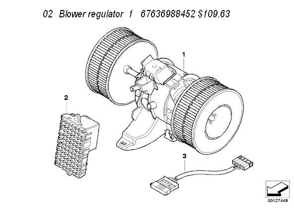 1992 bmw 525i Motor diagram