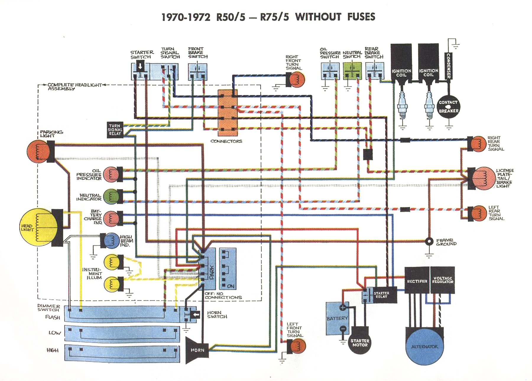 1971 bmw r75 5 wiring diagram